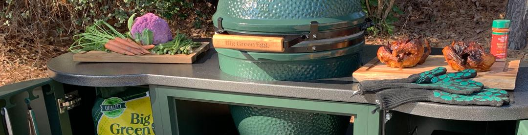 Big Green Egg Tables + Custom Islands