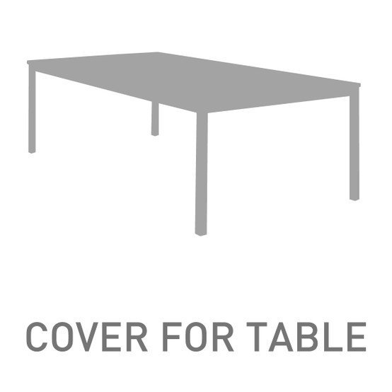 142 Inch Rectangular Table Cover for Equinox Ceramic Extending Table OPEN