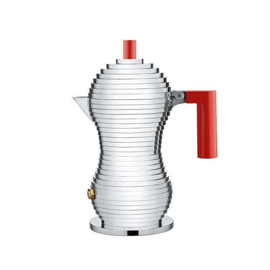 Pulcina Espresso Coffee Maker Red Handle Small