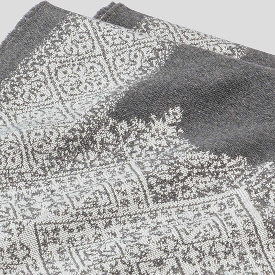 Fez Fine Micron Wool Throw in Storm