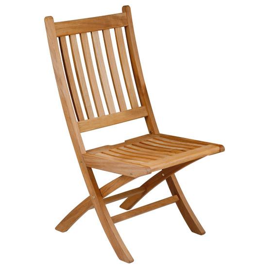 Ascot Folding Teak Side Chair
