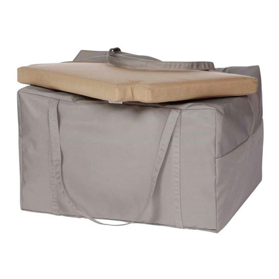 Storage Bag Fits Four Armchair/Dining Cushions