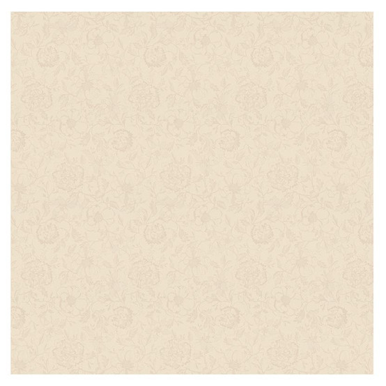 Mille Charmes Ecru De Blanc Coated Fabric (Price/Inch)
