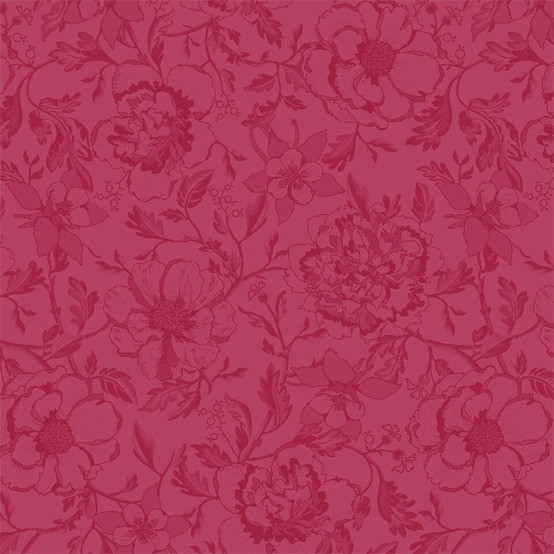 Mille Charmes Framboise Coated Fabric (Price/Inch) -on Roll