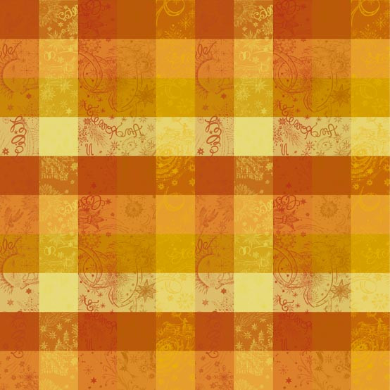 Mille Couleurs Coated Fabric in Soleil (Price/Inch)
