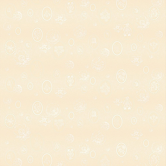 Mille Eclats Coated Fabric in Chocolat Blanc (Price/Inch)