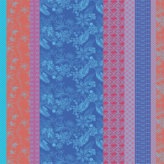 Mille Oasis Coated Fabric in Azul (Price/Inch)