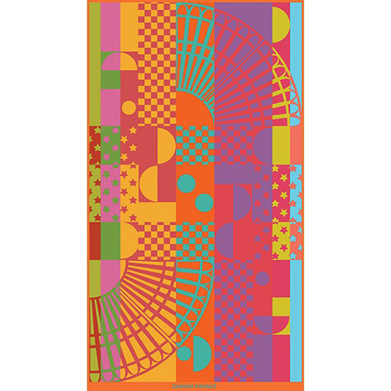 Square Rainbow Beach Towel