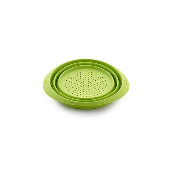 Mini Collapsible Colander in Green