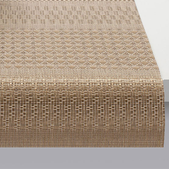 Mixed Weave Luxe Table Runner Luxe Gold