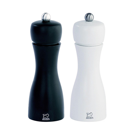 """Tahiti Duo Black And White Pepper Mill And Salt Mill 6"""""""