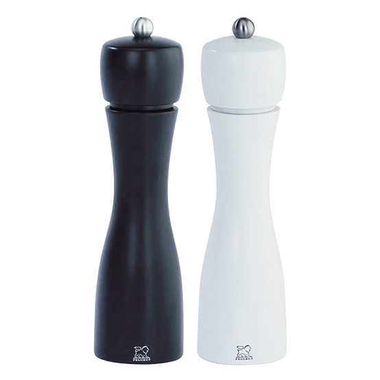 """Tahiti Duo Black And White Pepper Mill And Salt Mill 8"""""""