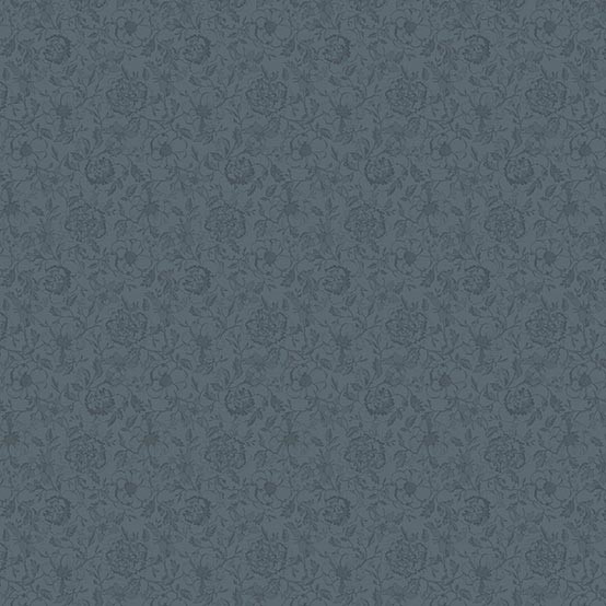 Mille Charmes Coated Fabric in Anthracite (Price/Inch)