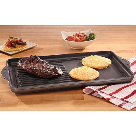 Double-Burner Grill / Griddle Combo