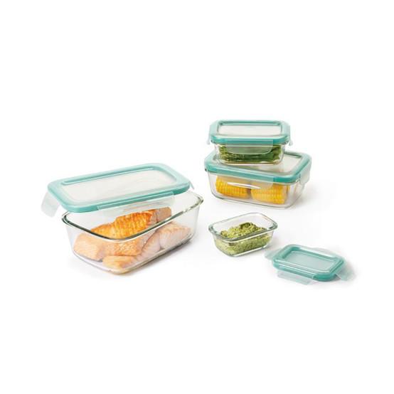 Good Grips 8 pc Snap Glass Rectangular Container Set