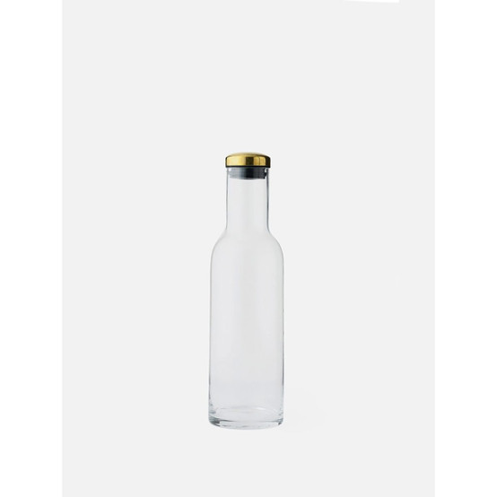34 oz Bottle Carafe with Brass Lid