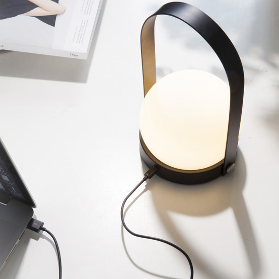 Carrie LED Lamp in Black