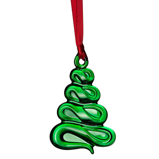 Holly Days Green Christmas Tree Ornament