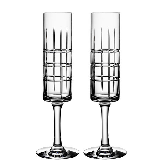 Pair of Street Champagne Glasses