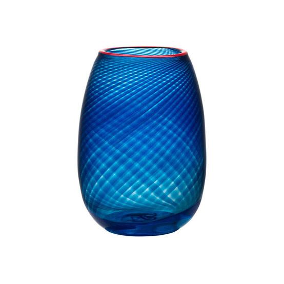 Small Red Rim Vase