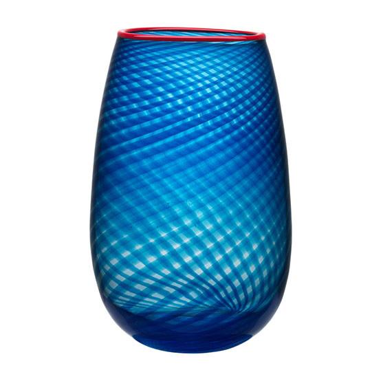 Large Red Rim Vase