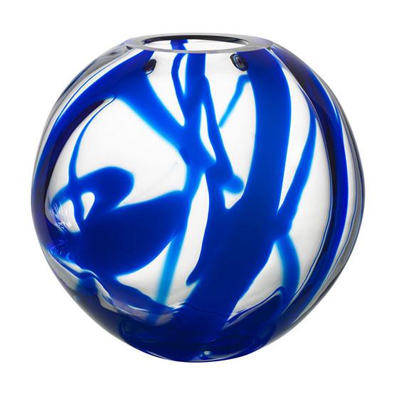 Blue Globe Vase