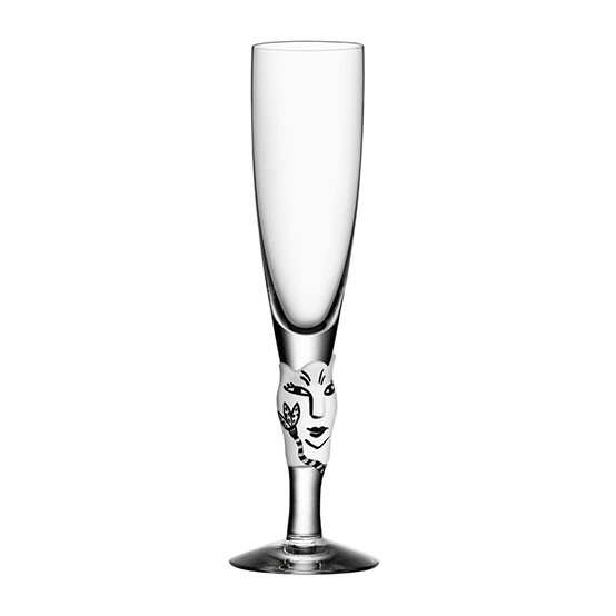 Open Minds White Champagne Flute