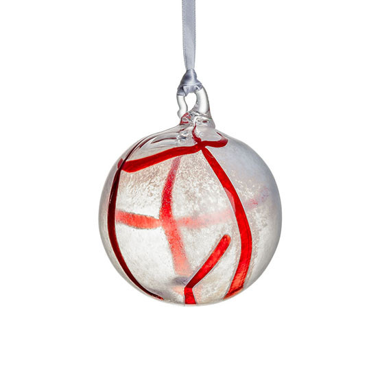 Contrast Ornament - White & Red