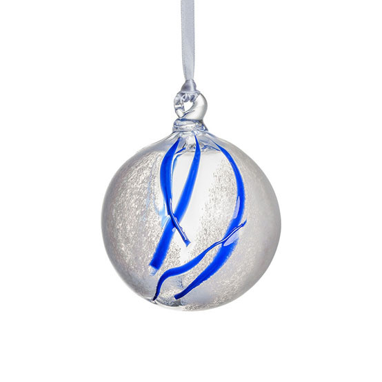 Contrast Ornament - White & Blue