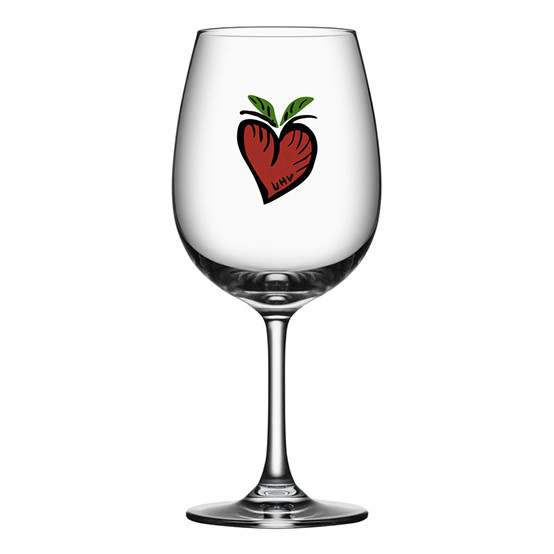 Friendship Wine Glass - Hearts