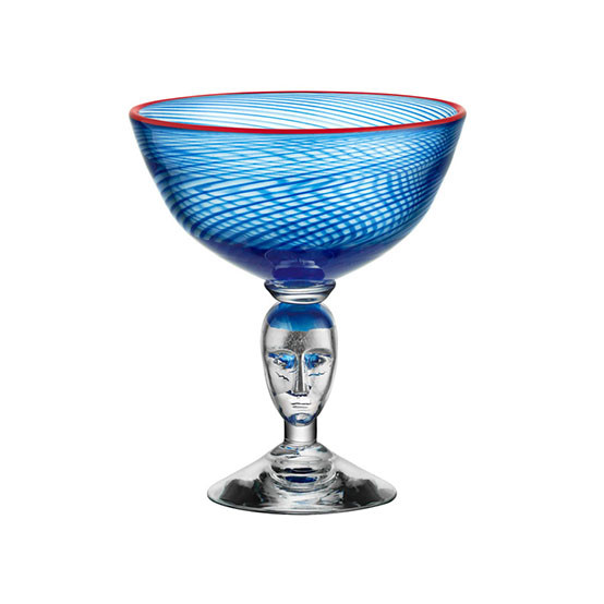 Red Rim Brains Blue Footed Bowl