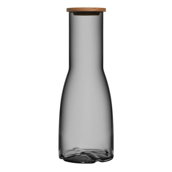 Smoke Grey Bruk Carafe wtih Oak Lid