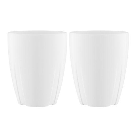 Bruk Porcelain Mug with Oak Lid - Set of 2