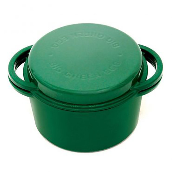 Cast Iron Dutch Oven with Lid Enamel Green Round