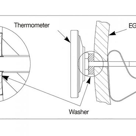 Tel-Tru® Dial Temperature Gauge 2 in