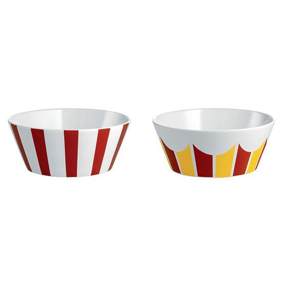 Circus Set Of 2 Small Bowls, Stripes