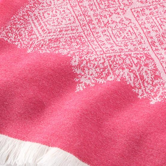 Fez Fine Micron Wool Throw in Peony