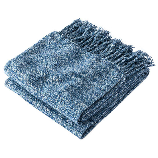 Marly Cotton Throw in Indigo