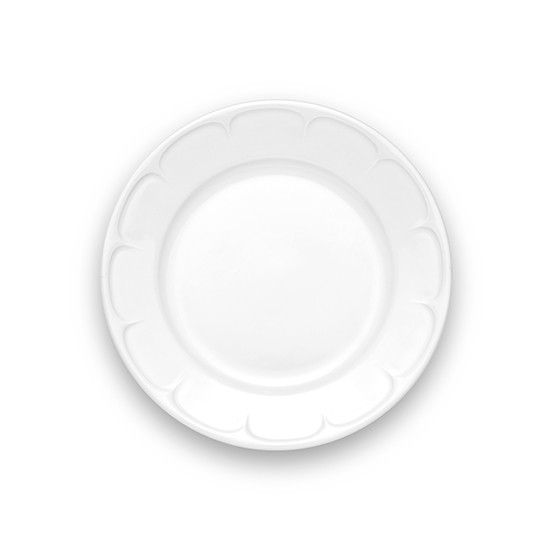 Montmartre Bread Plate with Scallop On Rim