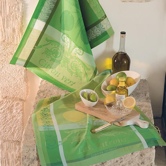 Citron Vert Acide Kitchen Towel
