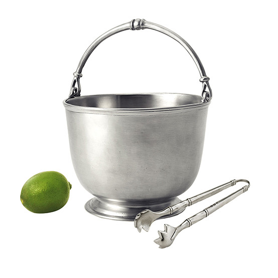 Bar Ice Bucket With Tongs