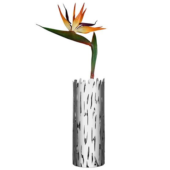 Barkvase Flower Vase in Silver