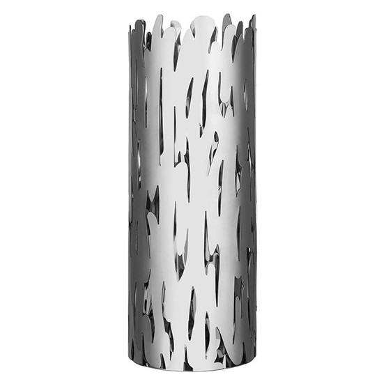 Barkvase Flower Vase in Stainless Steel