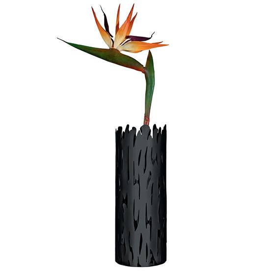 Barkvase Flower Vase in Black