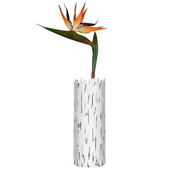 Barkvase Flower Vase in White