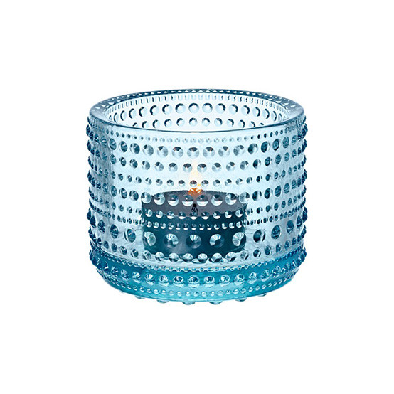 Kastehelmi Tealight Candleholder in Light Blue