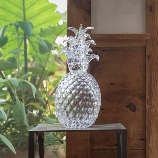 Small Glass Pineapple