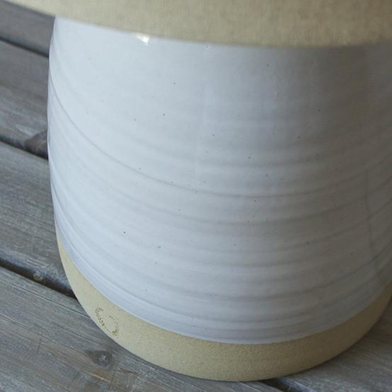Beehive Lamp & Linen Shade