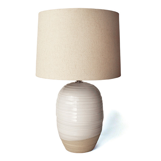 Cocoon Lamp & Linen Shade