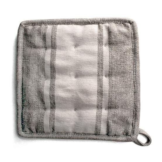 Handloom Stripe Cream Pot Holder - Set of 2